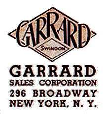 Garrard Engineering Limited - Anti Skate Test Record